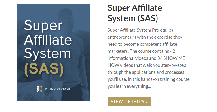 The Super Affiliate System 3.0 review: what is the course about